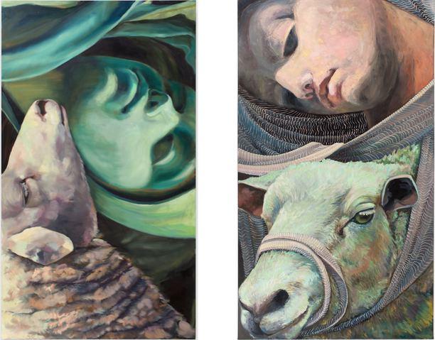 Alexandra Wiesenfeld A Love Uneven oil on canvas