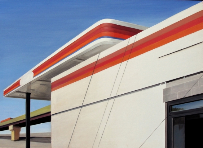 Allan Gorman Architectural Angles Oil on Linen