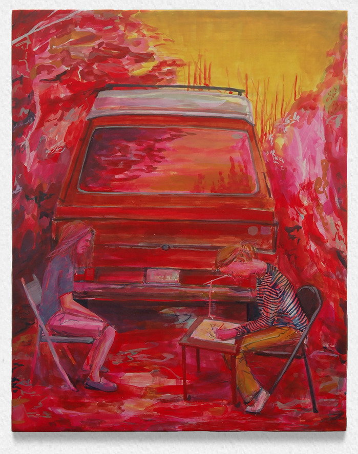 Current Paintings Vanagon/camera lucida