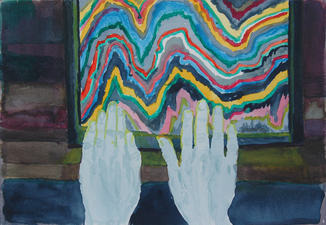 Amanda Lechner Current Paintings watercolor on paper on panel