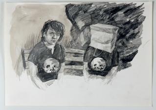 Amanda Lechner Works on Paper: 2009-2010 Graphite, ink on Paper