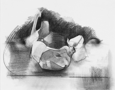 Amy Mahnick Drawing Charcoal on paper