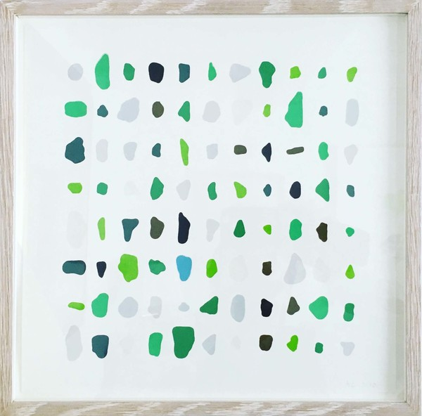 Andrew Carter - Artist & Printmaker Sea Glass 10 colour screen print