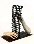 Arlene Rush Hands  Fingers                                                               Arms Polyurethane resin, acrylic on welded steel and colored wax