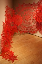 Ashley V. Blalock Keeping Up Appearances Installation Series, 2011- Pres. Cotton yarn