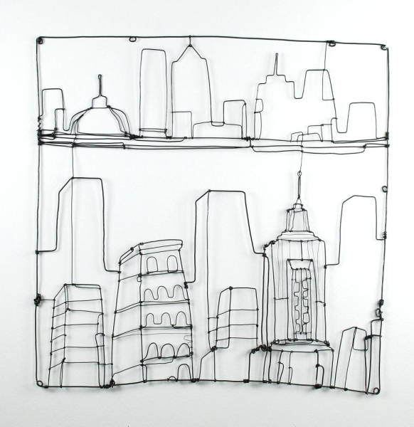 Wire Drawings Cityscape III