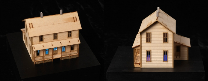 Narcissistic Excess wooden house with video
