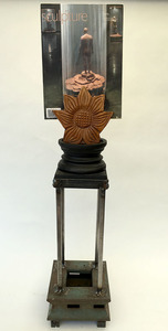 Bruce Rosensweet TOTEMS Wood, welded steel, found objects, magazine cover