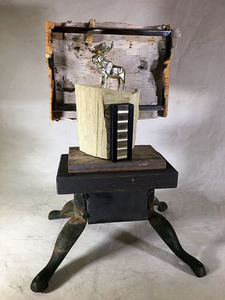 Bruce Rosensweet NEW WORK Found objects, birch bark, wood, milk paint