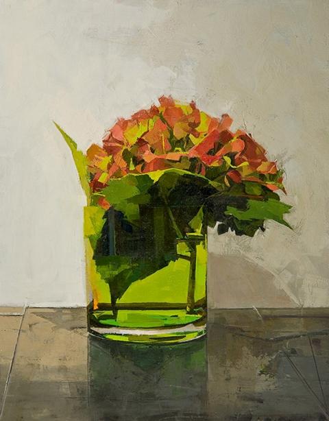 STILL LIFE Autumn hydrangea