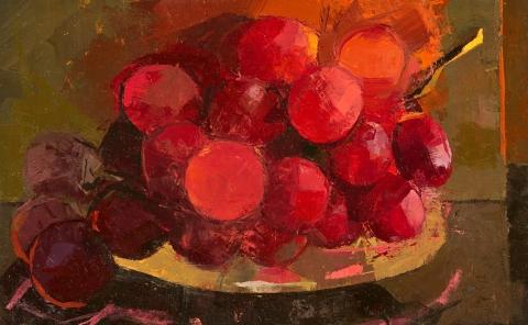 STILL LIFE Red grapes