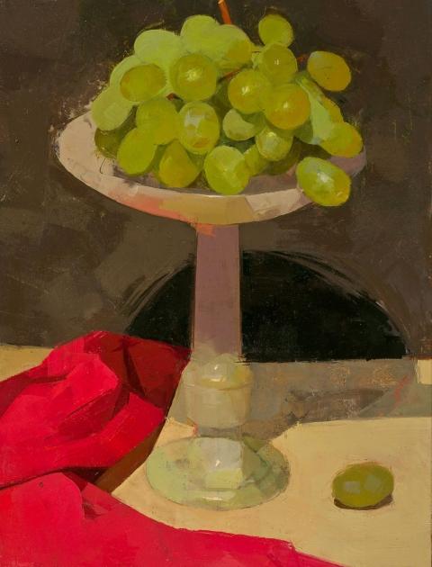 STILL LIFE Green grapes