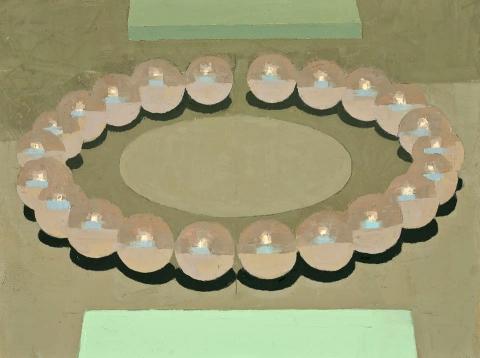 STILL LIFE Ellipse (big pearls)