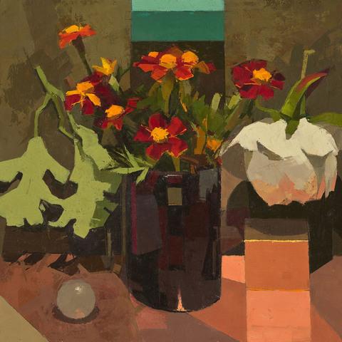 STILL LIFE Still life with marigolds