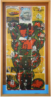 Reverse Collage 1995-1998 (images) acrylic and transferred vintage magazine ink and pages on Plexiglas