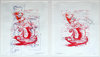 Vessel Series 1993-1994 (images) lino cut on marker and pencil drawings (diptych) (edition of 1)