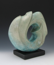 Elaine Lorenz Portals Porcelain, raku fired