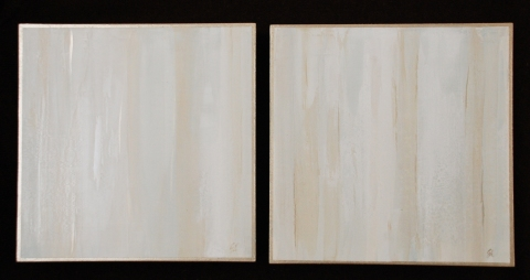 2011 Collection Venetain plaster with acrylics on wood panels.
