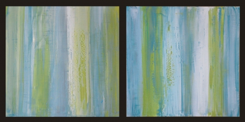 2012 Collection Venetian Plaster with acrylics on wood.