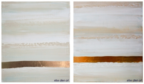 2012 Collection Venetian plaster, acrylics and gold leaf on wood.