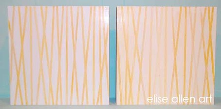 elise allen art 2013 Collection Venetian plaster, acrylics and gold leaf on wood.
