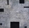 ELIZABETH HARRIS  Encaustic, marble dust, horsehair, and plant material on panel<br/>