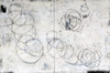 ELIZABETH HARRIS  Encaustic, graphite, and textile on wood panel<br/>