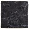 ELIZABETH HARRIS  Encaustic, textile, and marble dust on panel<br/>