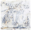 ELIZABETH HARRIS  Encaustic and graphite on canvas and panel<br/>