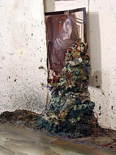 Photography Palette Waste Paint Pile
