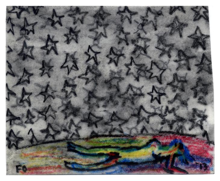 Works On Paper Under Cherry Red Stars