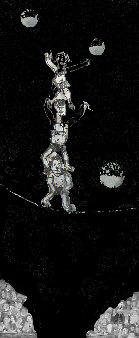Works On Paper StrongMen Atop