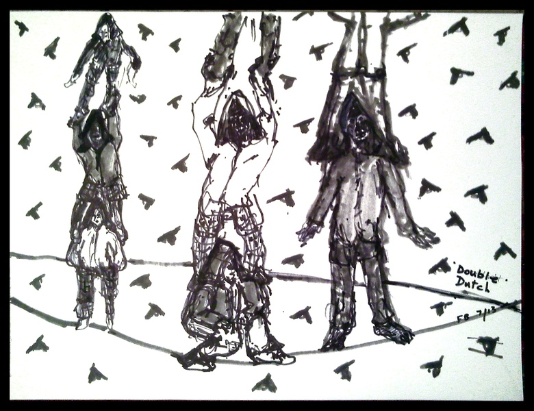 Works On Paper Double Dutch- Boys in Hoodies
