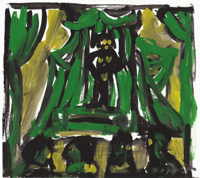Works On Paper Stage Green Mexico