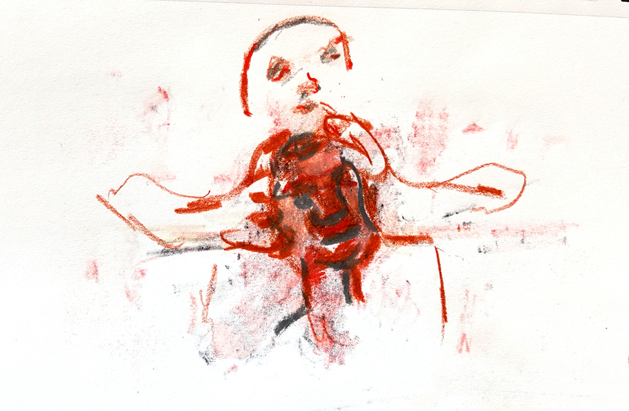 Works On Paper Choke Drawing Variation 3