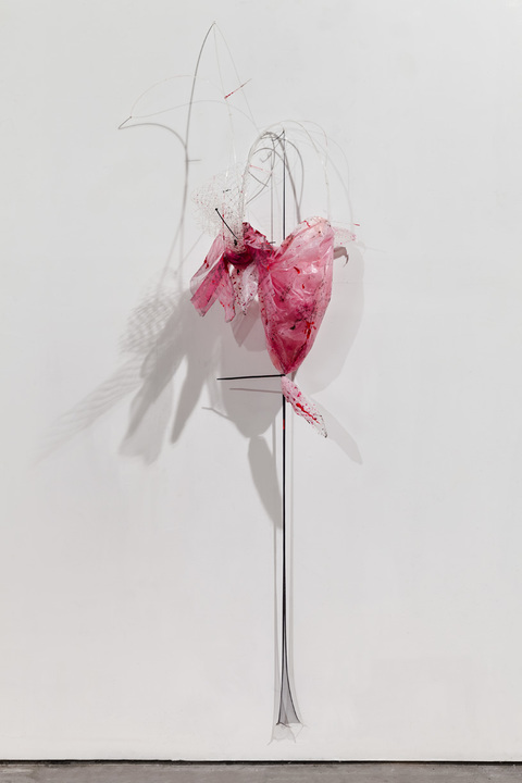 Gelah Penn SCULPTURE Plastic tarp, mosquito netting, monofilament, acrylic, plastic ties
