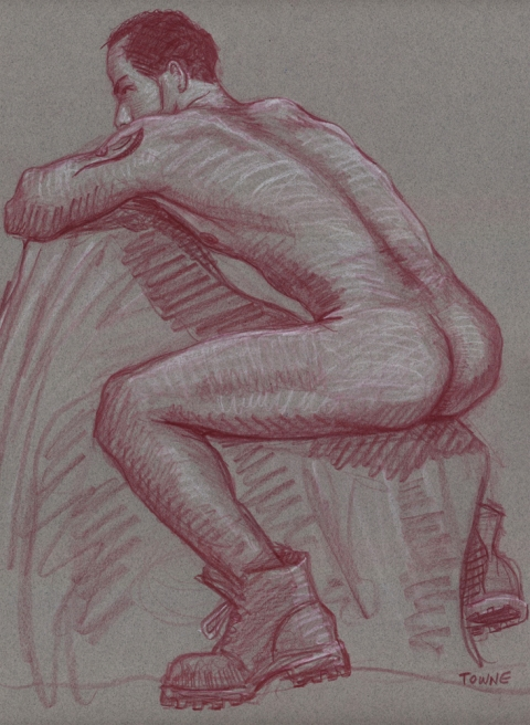 "- ""Erotic Life Drawings"" - <i>Warning: Adult Content, please be 18 to view</i> ""Deon - Backside"" Drawing"