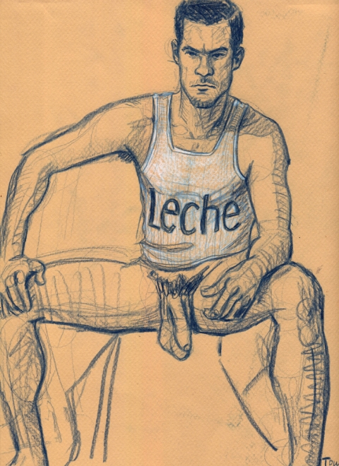 "- ""Erotic Life Drawings"" - <i>Warning: Adult Content, please be 18 to view</i> ""Klaus - Leche"" Drawing"