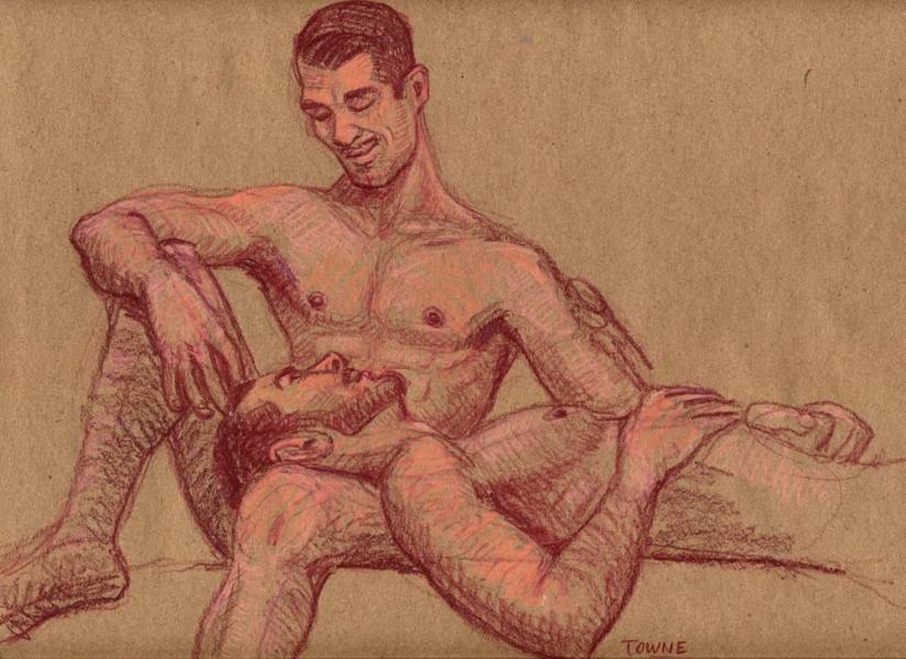 "- ""Erotic Life Drawings"" - <i>Warning: Adult Content, please be 18 to view</i> ""Joey And James"" Drawing"