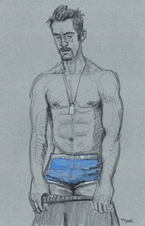 "- ""Erotic Life Drawings"" - <i>Warning: Adult Content, please be 18 to view</i> ""DanPaul - Undressing, Blue Underwear"" Drawing"