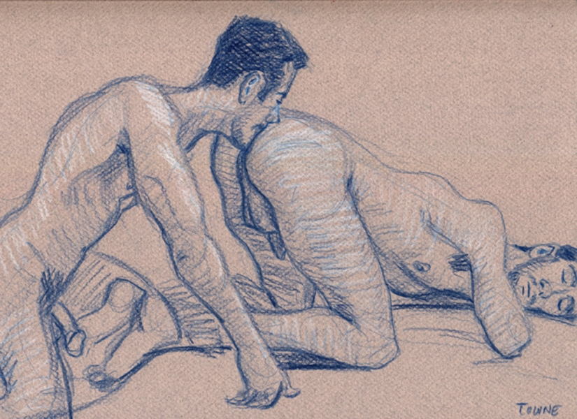 "- ""Erotic Life Drawings"" - <i>Warning: Adult Content, please be 18 to view</i> ""Joey and Victor - Rim"" Drawing"