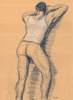 "- ""Erotic Life Drawings"" - <i>Warning: Adult Content, please be 18 to view</i> Life Drawing - Color Pencil on Toned Paper"