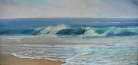DANA GOODFELLOW WAVE ACTION OIL O LINEN