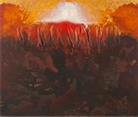 Harry Powers     Paintings and Sculpture Origins acrylic on wood panel and fiberglas