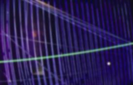 HJ BOTT INSTALLATION work, in situ, all periods EL cables & EL strips, yarn, balsa strips, ceiling tile rods, mini spheres, florescent vinyls, fiber optics for pulsation, black velvet, fans and hardware