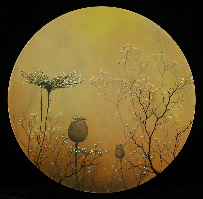 IVY JACOBSEN Rounds oil on wood panel