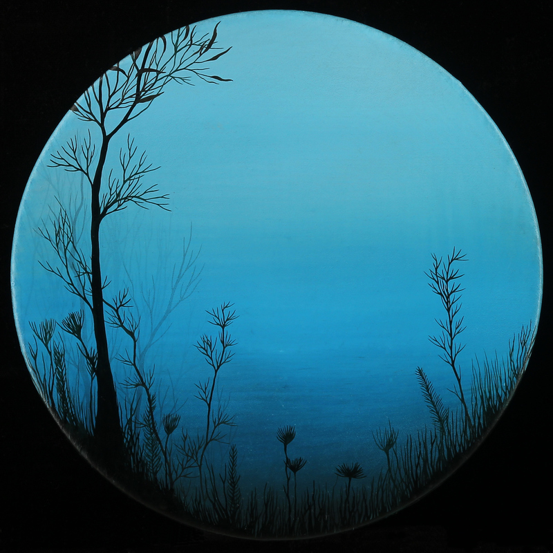 IVY JACOBSEN Rounds oil & resin on wood panel