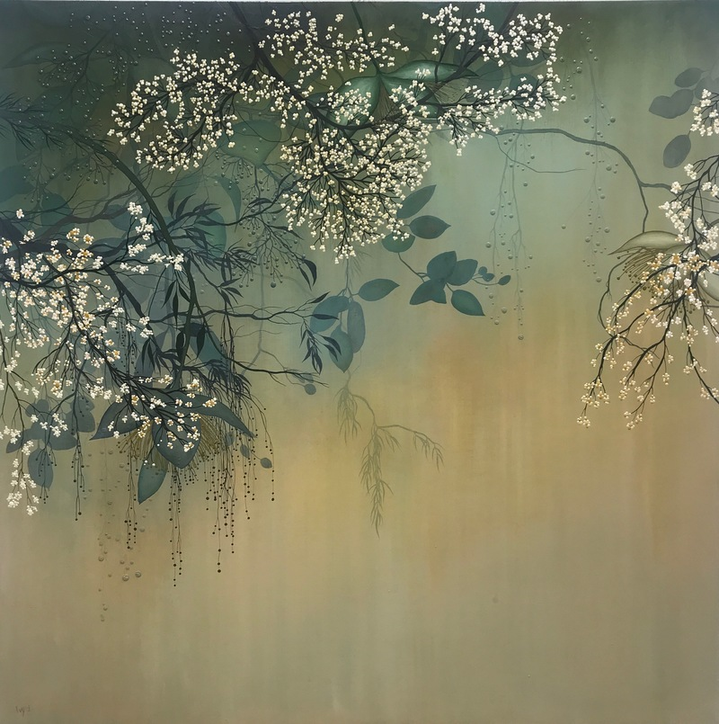 IVY JACOBSEN Nature's Poems - Solo Show oil on wood panel