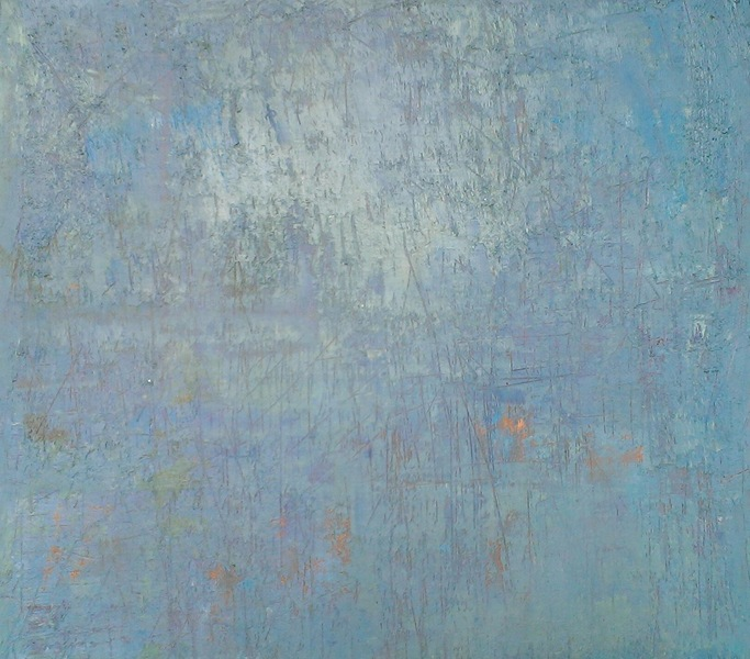 Blue Shimmer (left side of diptych)<br/>