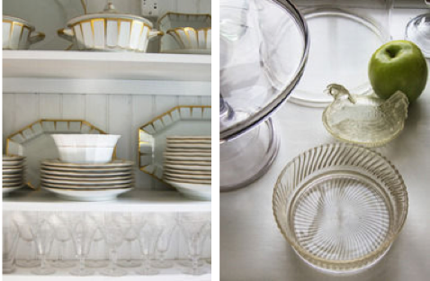 Pantry Dishes and Glassware, Annisquam MA<br/>